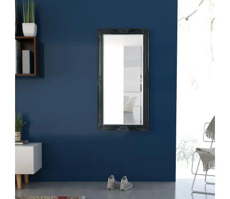 vidaXL Wandspiegel Barok 120 x 60 cm zwart[3/9]