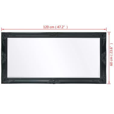 vidaXL Wandspiegel Barok 120 x 60 cm zwart[9/9]
