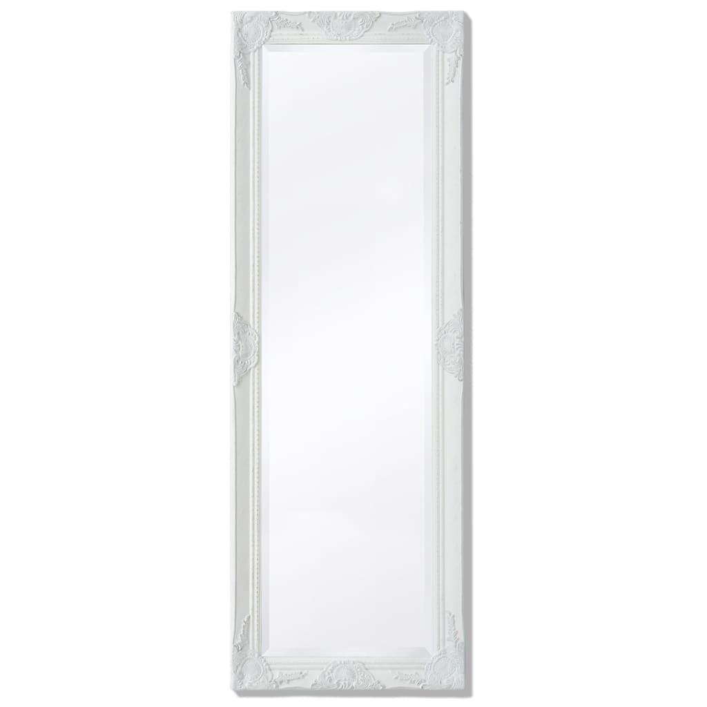 vidaXL Καθρέφτης Επιτοίχιος με Μπαρόκ Στιλ Λευκός 140 x 50 εκ.