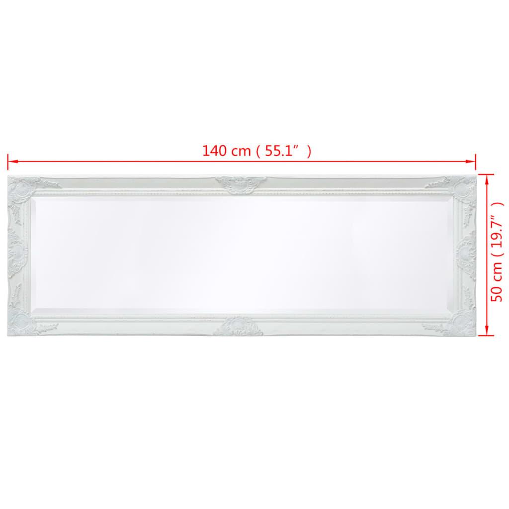 8718475525691 g en hd 8 - vidaXL Espejo de Pared Estilo Barroco 140x50 cm Blanco Espejo de Armario Retro