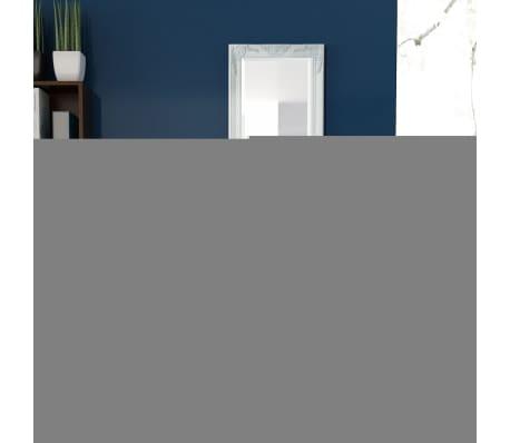 "vidaXL Wall Mirror Baroque Style 55.1""x19.7"" White[3/9]"