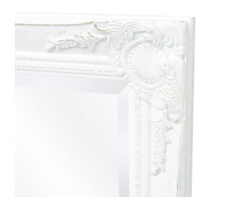 Vidaxl specchio da parete stile barocco 140x50 cm bianco for Specchio da parete 180 cm