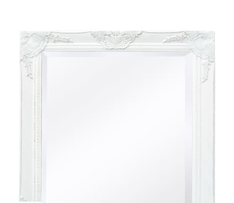 "vidaXL Wall Mirror Baroque Style 55.1""x19.7"" White[7/9]"