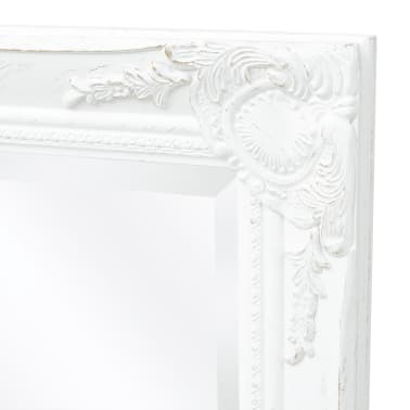 "vidaXL Wall Mirror Baroque Style 55.1""x19.7"" White[6/9]"