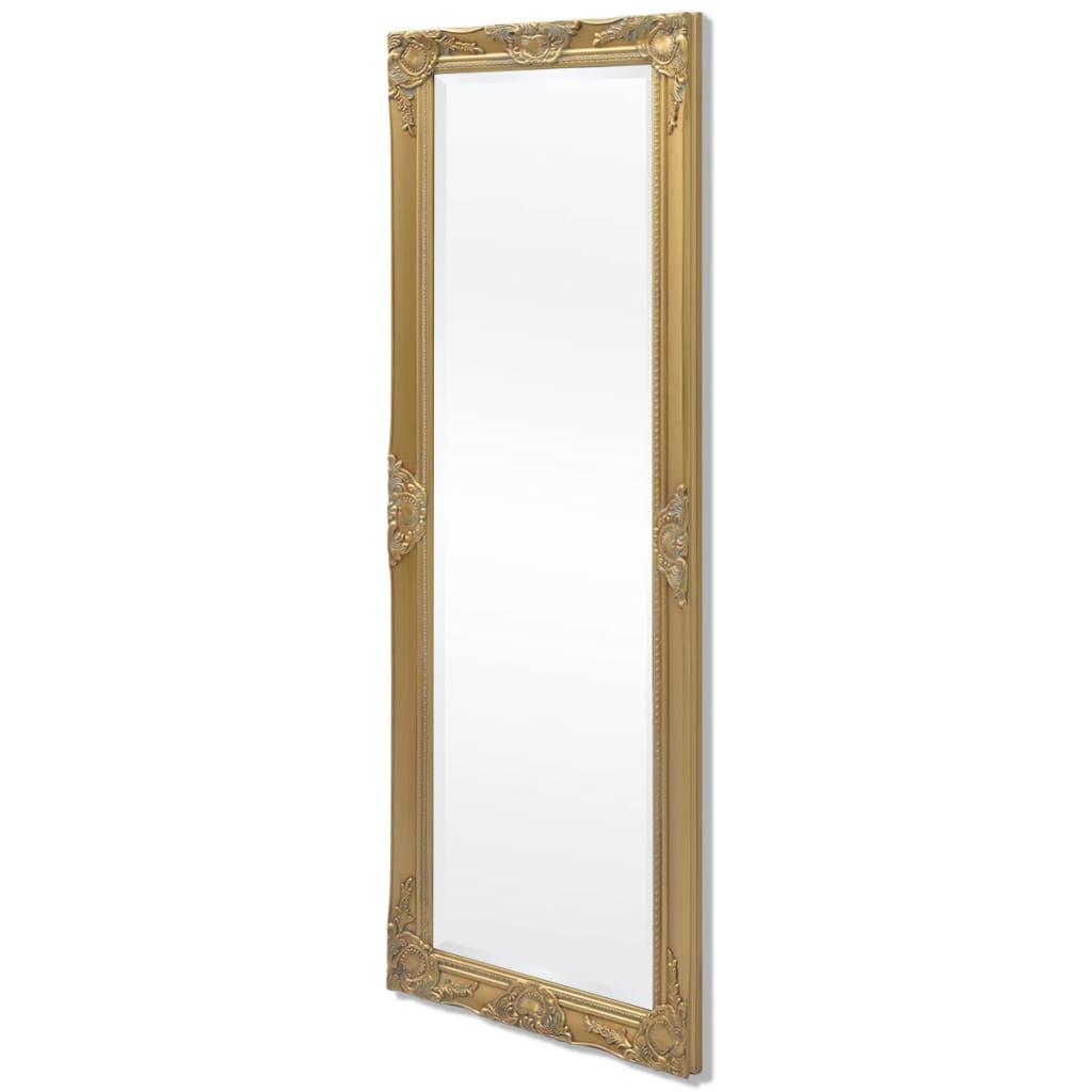 vidaXL Καθρέφτης Επιτοίχιος με Μπαρόκ Στιλ Χρυσός 140 x 50 εκ.