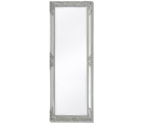 "vidaXL Wall Mirror Baroque Style 55.1""x19.7"" Silver[1/9]"
