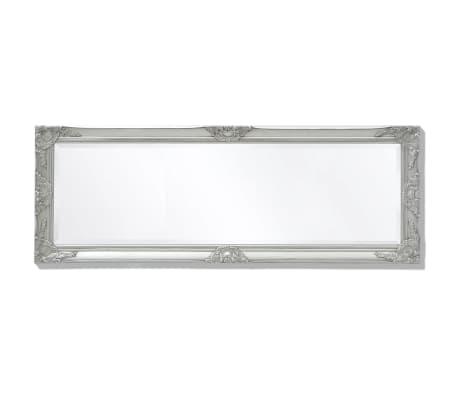"vidaXL Wall Mirror Baroque Style 55.1""x19.7"" Silver[5/9]"