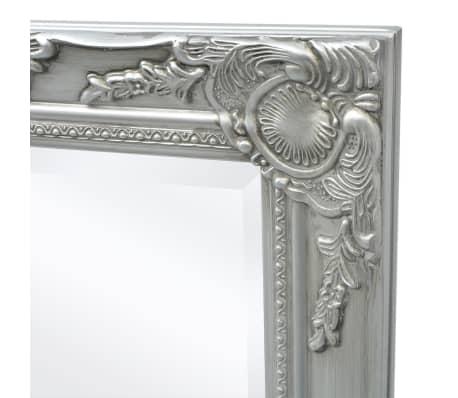 "vidaXL Wall Mirror Baroque Style 55.1""x19.7"" Silver[6/9]"