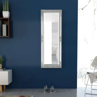 "vidaXL Wall Mirror Baroque Style 55.1""x19.7"" Silver[3/9]"