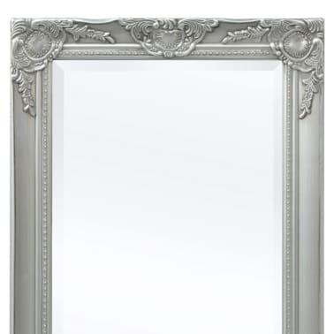 "vidaXL Wall Mirror Baroque Style 55.1""x19.7"" Silver[7/9]"