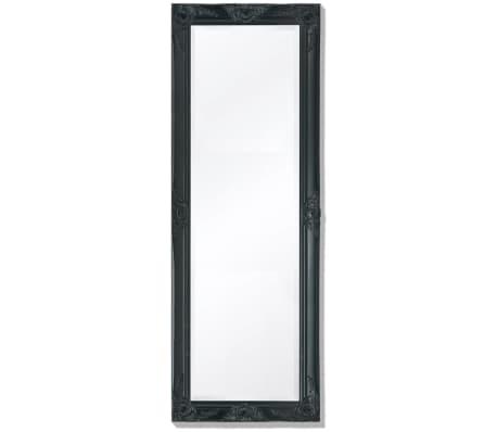 "vidaXL Wall Mirror Baroque Style 55.1""x19.7"" Black[1/9]"