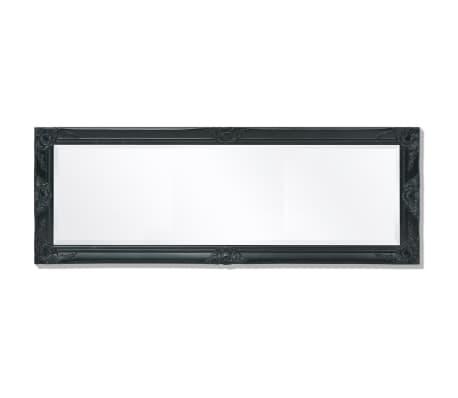 "vidaXL Wall Mirror Baroque Style 55.1""x19.7"" Black[5/9]"