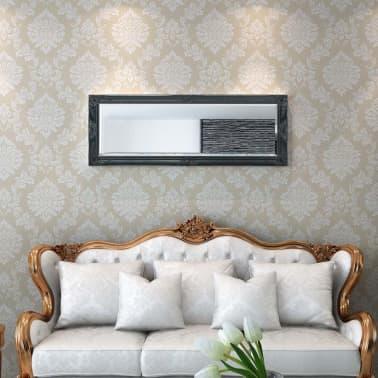 "vidaXL Wall Mirror Baroque Style 55.1""x19.7"" Black[2/9]"