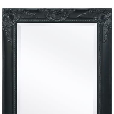 "vidaXL Wall Mirror Baroque Style 55.1""x19.7"" Black[7/9]"