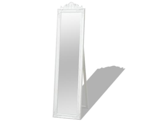 "vidaXL Free-Standing Mirror Baroque Style 63""x15.7"" White[1/7]"