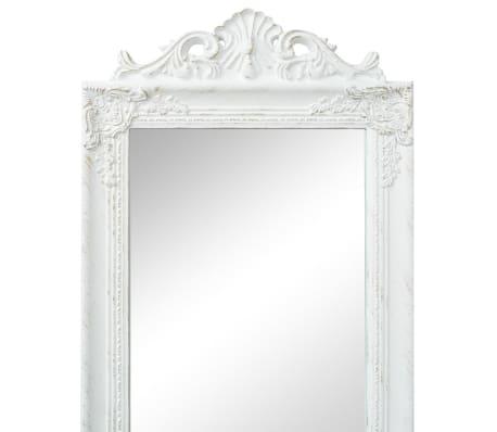 "vidaXL Free-Standing Mirror Baroque Style 63""x15.7"" White[2/7]"