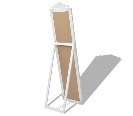 "vidaXL Free-Standing Mirror Baroque Style 63""x15.7"" White[5/7]"