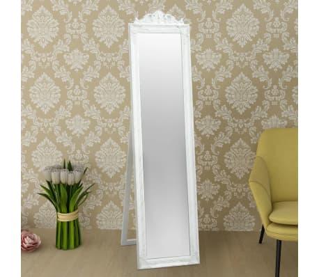 "vidaXL Free-Standing Mirror Baroque Style 63""x15.7"" White[6/7]"