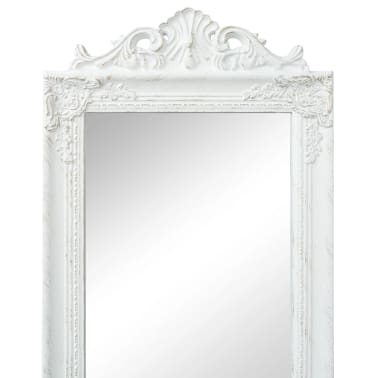 "vidaXL Free-Standing Mirror Baroque Style 63""x15.7"" White[3/7]"