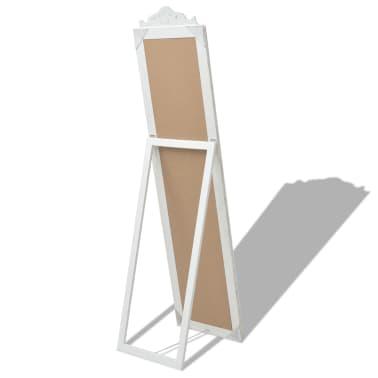 "vidaXL Free-Standing Mirror Baroque Style 63""x15.7"" White[4/7]"