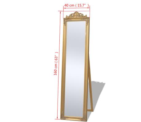 vidaxl standspiegel im barock stil 160x40 cm gold g nstig. Black Bedroom Furniture Sets. Home Design Ideas