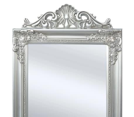 Vidaxl espejo de pie estilo barroco 160 x 40 cm plateado for Espejo de pie plateado