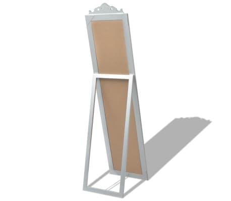 "vidaXL Free-Standing Mirror Baroque Style 63""x15.7"" Silver[4/7]"
