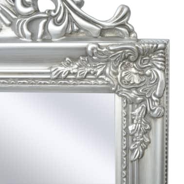 "vidaXL Free-Standing Mirror Baroque Style 63""x15.7"" Silver[3/7]"