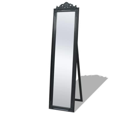acheter vidaxl miroir sur pied style baroque 160 x 40 cm noir pas cher. Black Bedroom Furniture Sets. Home Design Ideas