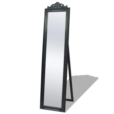 "vidaXL Free-Standing Mirror Baroque Style 63""x15.7"" Black[1/7]"