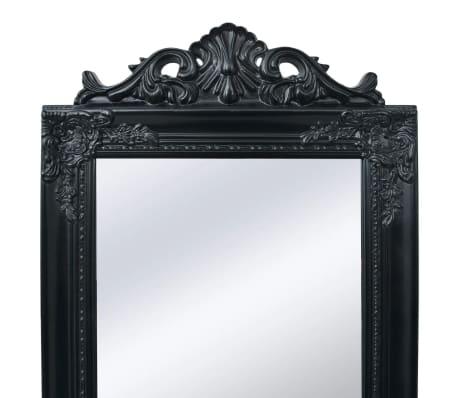 "vidaXL Free-Standing Mirror Baroque Style 63""x15.7"" Black[2/7]"