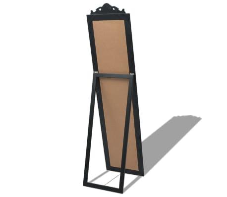 "vidaXL Free-Standing Mirror Baroque Style 63""x15.7"" Black[4/7]"
