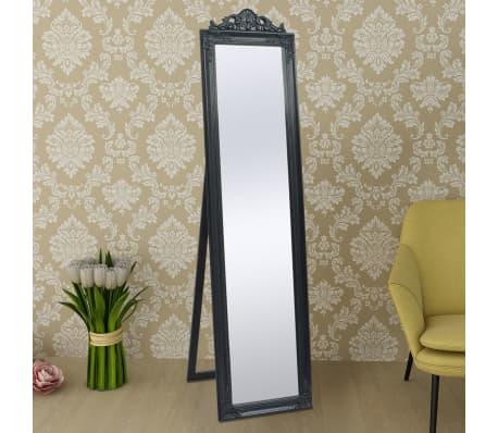 "vidaXL Free-Standing Mirror Baroque Style 63""x15.7"" Black[6/7]"
