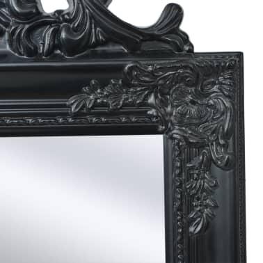 "vidaXL Free-Standing Mirror Baroque Style 63""x15.7"" Black[3/7]"