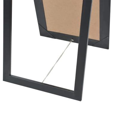 "vidaXL Free-Standing Mirror Baroque Style 63""x15.7"" Black[5/7]"