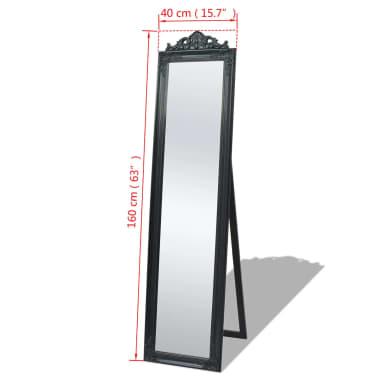 Acheter Vidaxl Miroir Sur Pied Style Baroque 160 X 40 Cm Noir Pas