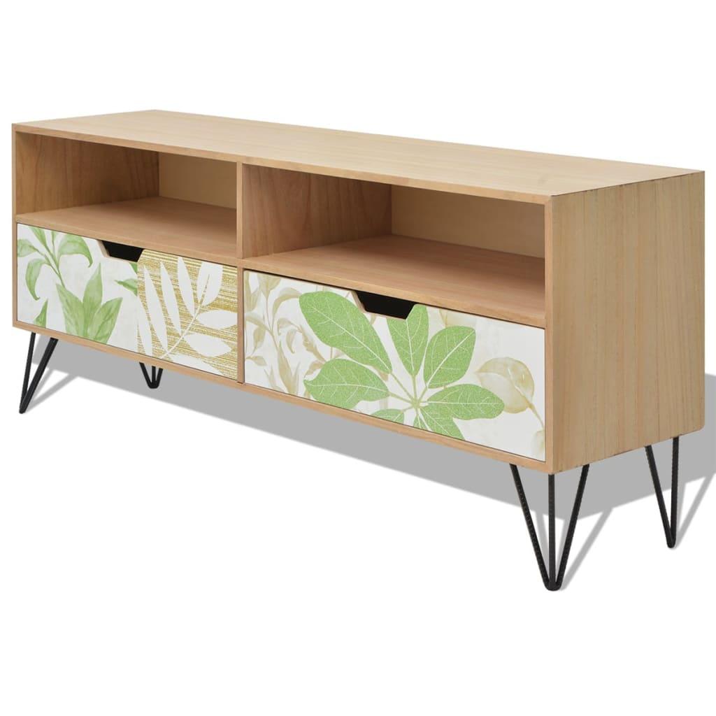vidaXL Tv-meubel bruin 120x30x50 cm MDF