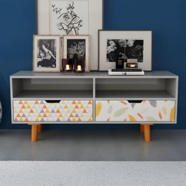 acheter vidaxl meuble tv mdf 120 x 30 x 50 cm gris pas cher. Black Bedroom Furniture Sets. Home Design Ideas