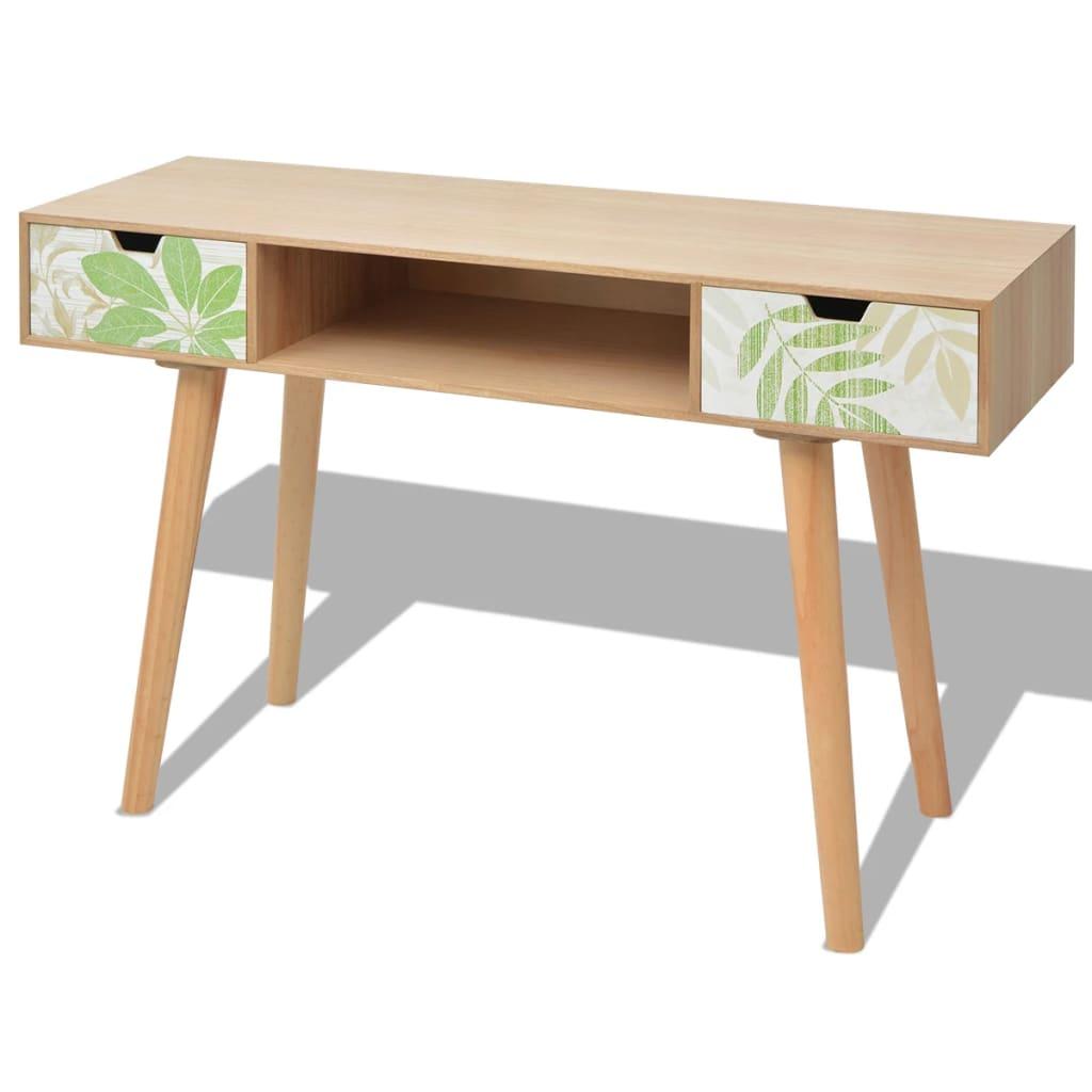 vidaXL Konzolový stolek MDF 120x40x78 cm, hnědý