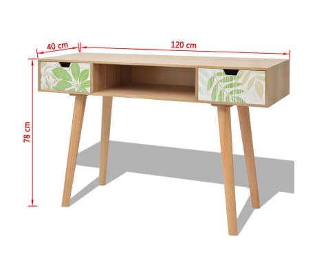 "vidaXL Console Table MDF 47.2""x15.7""x30.7"" Brown[8/8]"