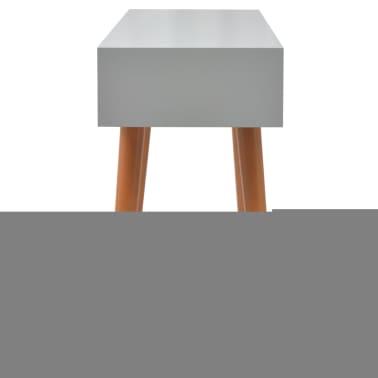 vidaXL Konsollbord MDF 120x40x78 cm grå[5/7]