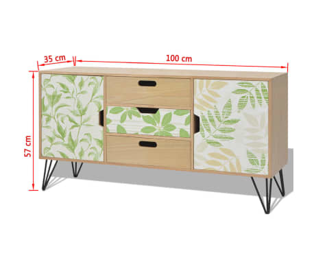 "vidaXL Sideboard MDF 43.3""x13.8""x22.4"" Brown[7/7]"