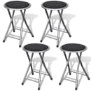 vidaXL Foldable Stools 4 pcs Artificial Leather