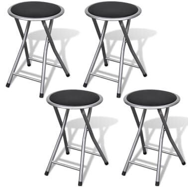 vidaXL Foldable Stools 4 pcs Artificial Leather[1/7]