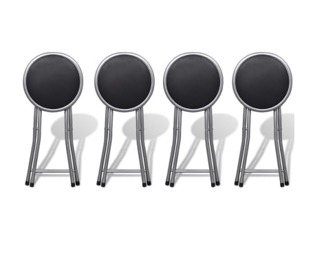 vidaXL Foldable Stools 4 pcs Artificial Leather[2/7]