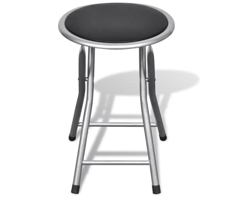vidaXL Foldable Stools 4 pcs Artificial Leather[4/7]