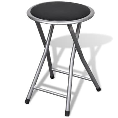 vidaXL Foldable Stools 4 pcs Artificial Leather[3/7]