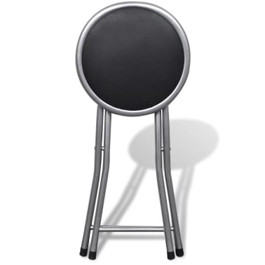 vidaXL Foldable Stools 4 pcs Artificial Leather[5/7]