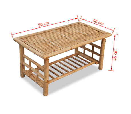 "vidaXL Coffee Table Bamboo 35.4""x19.7""x17.7""[5/5]"
