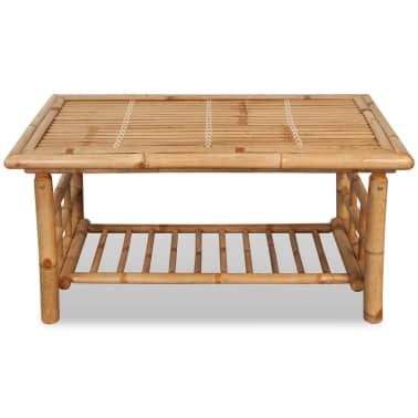 "vidaXL Coffee Table Bamboo 35.4""x19.7""x17.7""[2/5]"